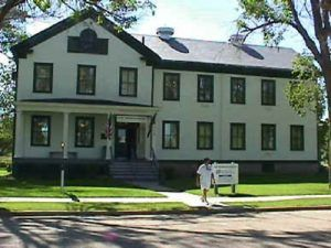 The Fort Robinson Museum, located by the parade grounds was the post headquarter ins 1905, photo courtesy Norris School District.