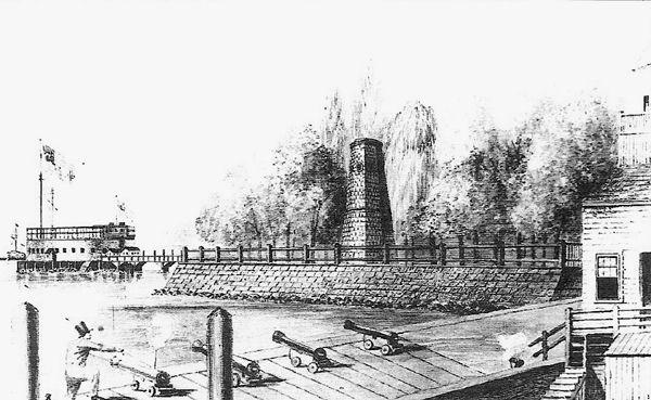 Fort Clinton in New York Harbor