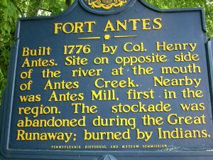 Fort Antes, Pennsylvania marker