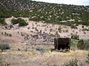 Old mine in Golden, New Mexico