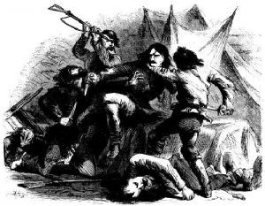 Wild Bill HIckok takes on the McCanles gang single handedly