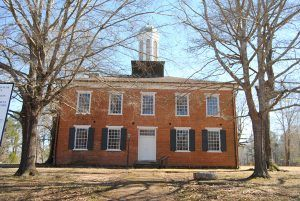 The historic Jacinto, Mississippi courthouse.
