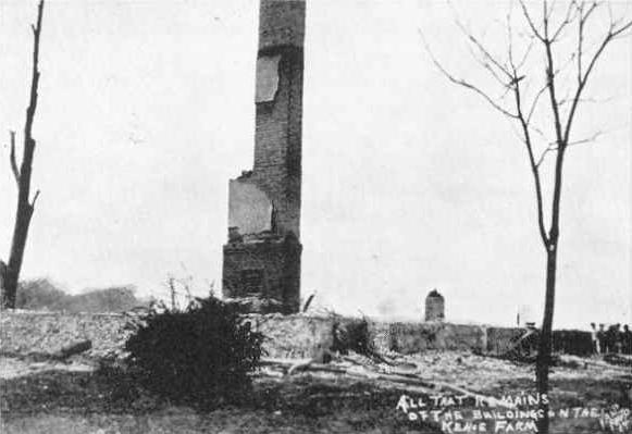 Remains of the Kehoe farm after it was destroyed.
