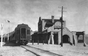 The Las Vegas & Tonopah Railroad was built in 1906 & 1907, from Las Vegas to Tonopah, and had stops in Beatty, Bullfrog, Rhyolite, and Goldfield. The LV & T ran for 14 years, until October 31, 1918, when the Nevada Department of Highways purchased the railroad right-of-way for Highway 95.