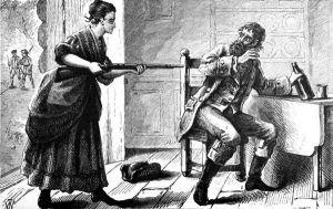 Mrs. Davies holds thief captive