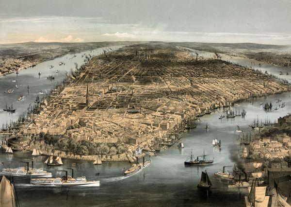 New York City in 1856