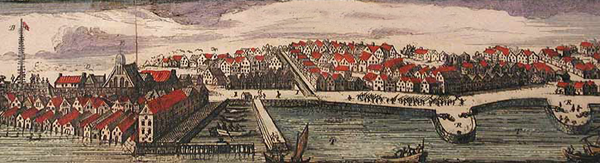 New Amsterdam by Nicolaes Visscher in 1656