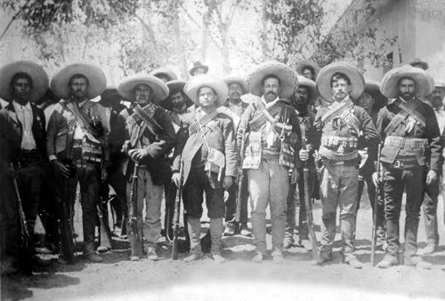 Pancho Villa and staff, Bain News Service