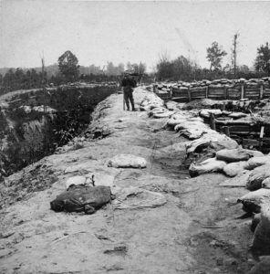 Earthwork fortifications at Port Hudson, Louisiana