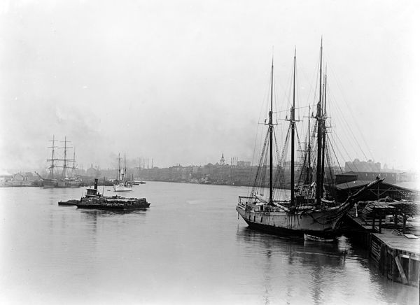 Steamboats in the Savannah River, Georgia
