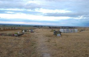 Oregon Trail Memorial Cemetery near Scotts Bluff, Nebraska