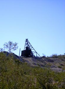 Headframe in Searchlight, Nevada