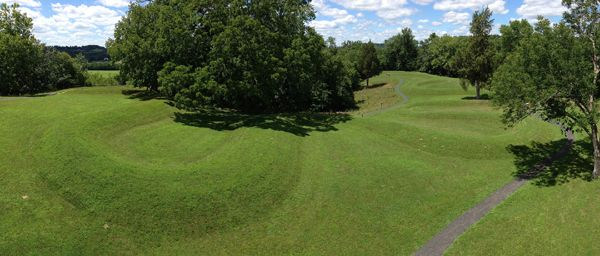 Great Serpent Mound, courtesy Wikipedia