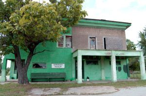The closed Shamrock Museum building was once a general store
