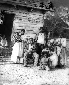 Slave family in South Carolina, 1862