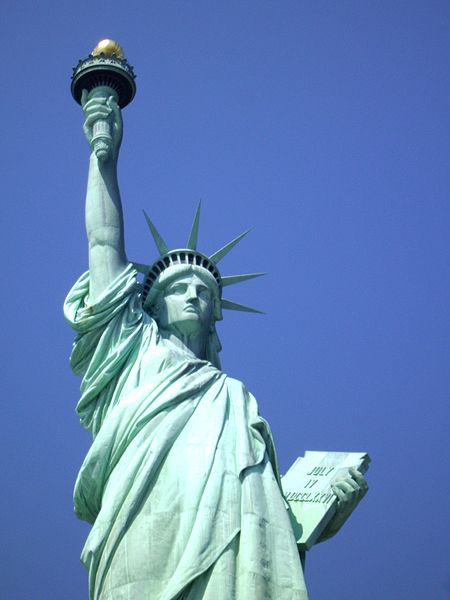 The Statue of Liberty, photo by 9 year-old Ella Nobo, Legends of America's granddaughter in training.