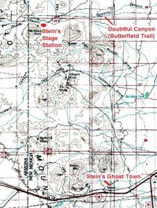 Steins Area Map, Gerald Ahnert