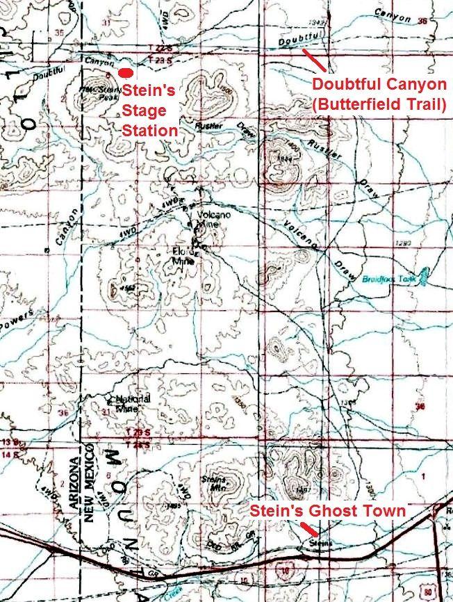 Steins Area Map, Gerald Ahnert