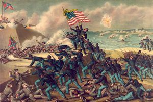 Battle of Fort Wagner, South Carolina in the Civil War