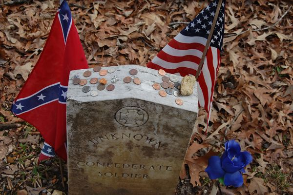 One of 13 graves of Confederate Soldiers, Dave Alexander