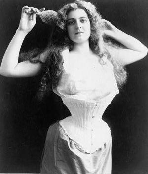Woman Wearing Corset 1899