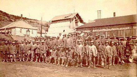 Miners at Central Mine Michigan. Photo courtesy of The Copper Range Railroad