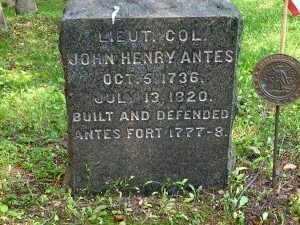 Colonel Henry Antes grave