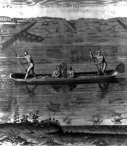 Indians fishing on the East Coast, 1590