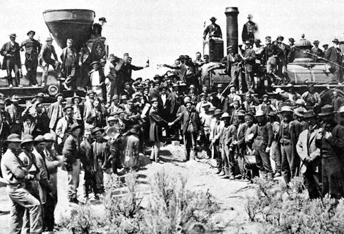 Meeting of the railroad lines