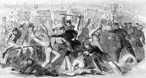 New York draft riots during the Civil War