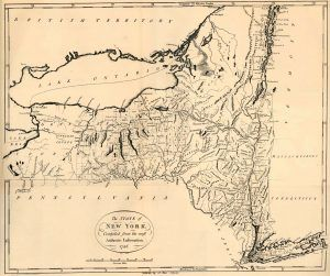 New York State Map, 1796