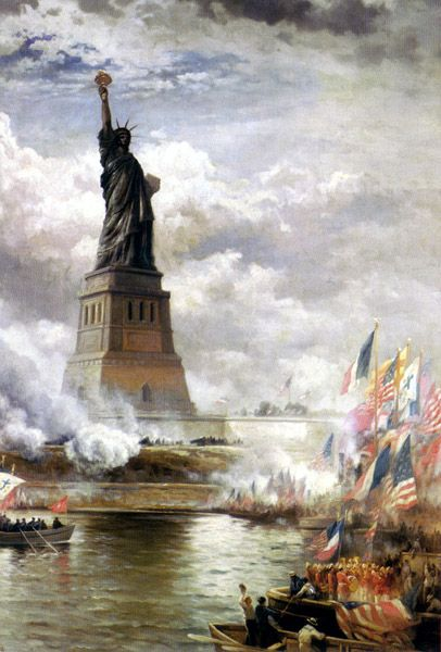 Statue of Liberty unveiled