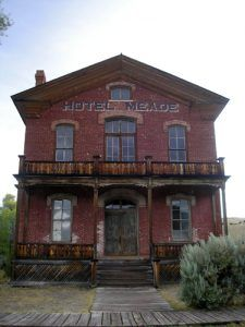 After Bannack lost the county seat, the courthouse became the Hotel Meade