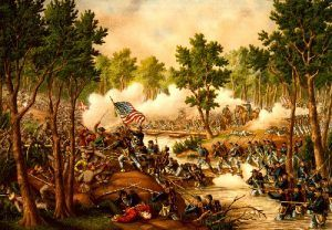 Battle of Spotsylvania, Virginia by Kurz & Allison, 1888