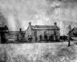 Historic view of Camp Floyd, Utah