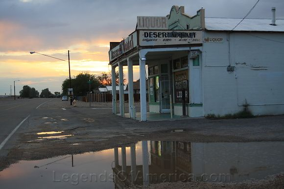 The sunsets on Desert Market in Daggett, California on historic Route 66. Photo by Jim Hinckley.