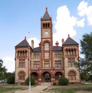 DeWitt County Courthouse in Cuero, Texas, photo by  Larry D. Moore, courtesy Wikipedia