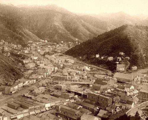 Deadwood from Mt. Moriah in 1888