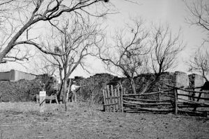 Fort Belknap before restoration, 1934