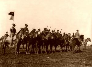 The 11th Cavalry at Fort Sam Houston, 1912.