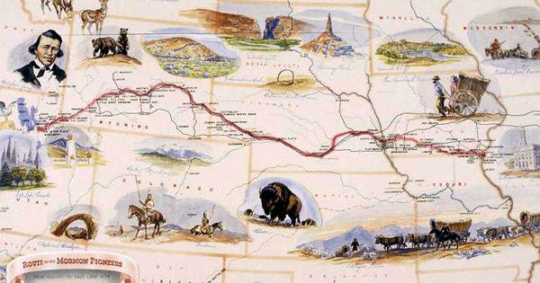 Handcart Map courtesy Latter Day Saints Church