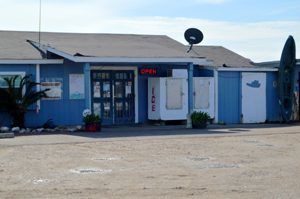 One business remains in Indianola at the marina.