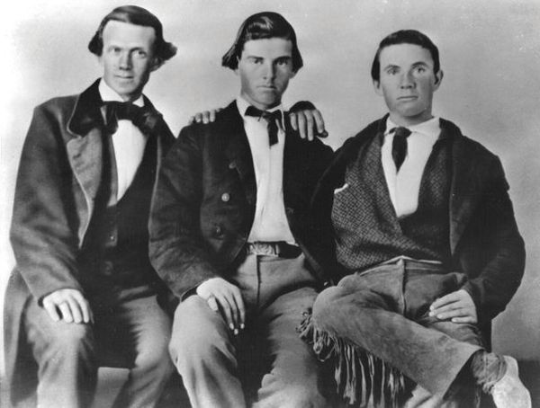 John Fisher, John Hancock, and Billy Fisher, Pony Express Riders