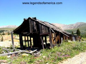 Abandoned Mine building near Leadville, Colorado