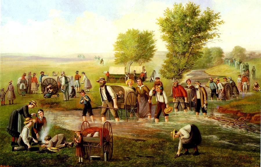 Mormon Handcart Pioneers by C.C.A. Christensen