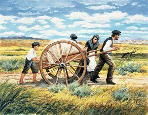 Mormon Handcart Family