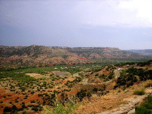 A view of Palo Duro Canyon near the entrance of the park
