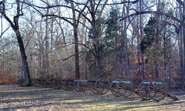 Cannons at Shiloh Battlefield