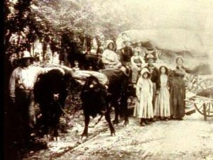 The Sager family on the Oregon Trail