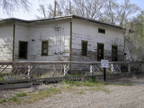 The old Railroad Station, Thompson Springs, Utah